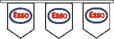 Esso branded bunting