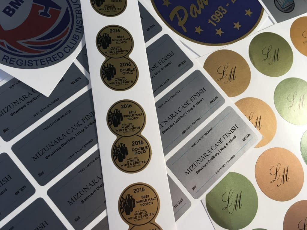 Gold and Silver Stickers & Labels