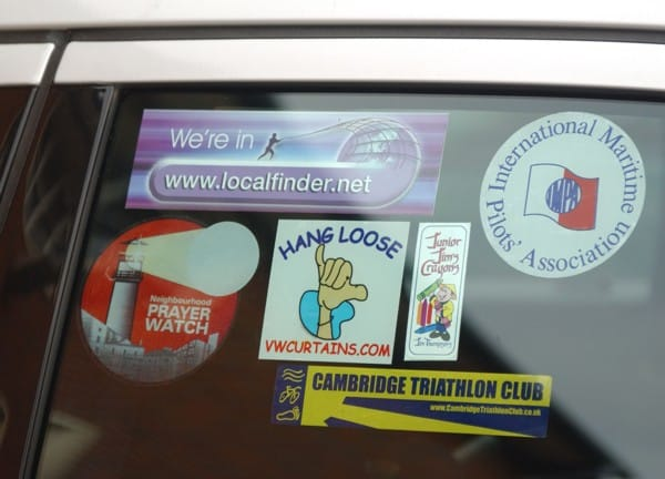 Custom Car Window Stickers Abacas Studios - Car window decals for business uk